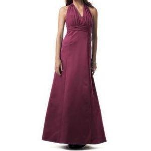 Long Halter empire formal Davids dress 81441 sz 16